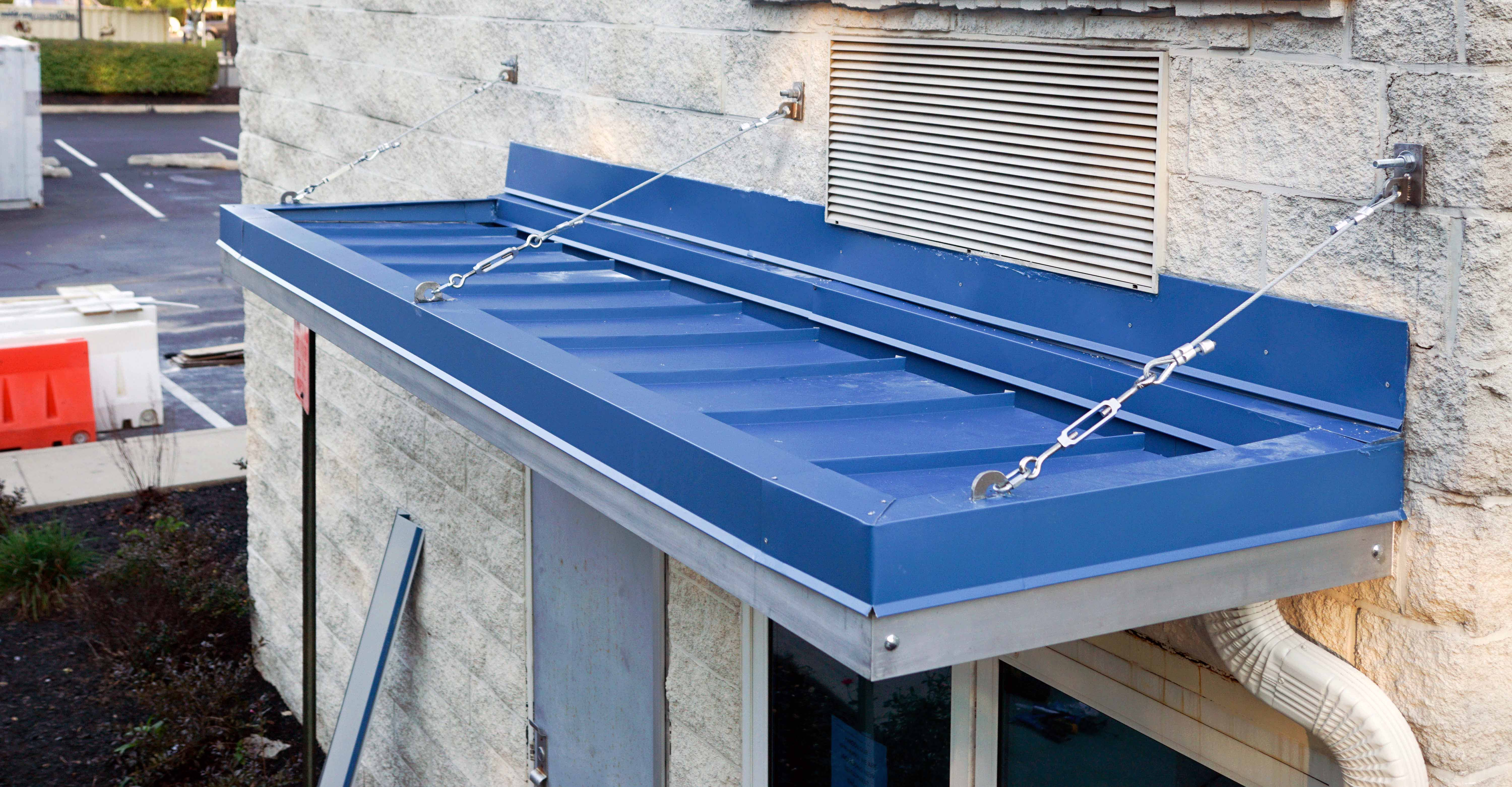 Metal Canopy with Standing Seam Roof & Metal Canopy with Standing Seam Roof - Bensalem Metal