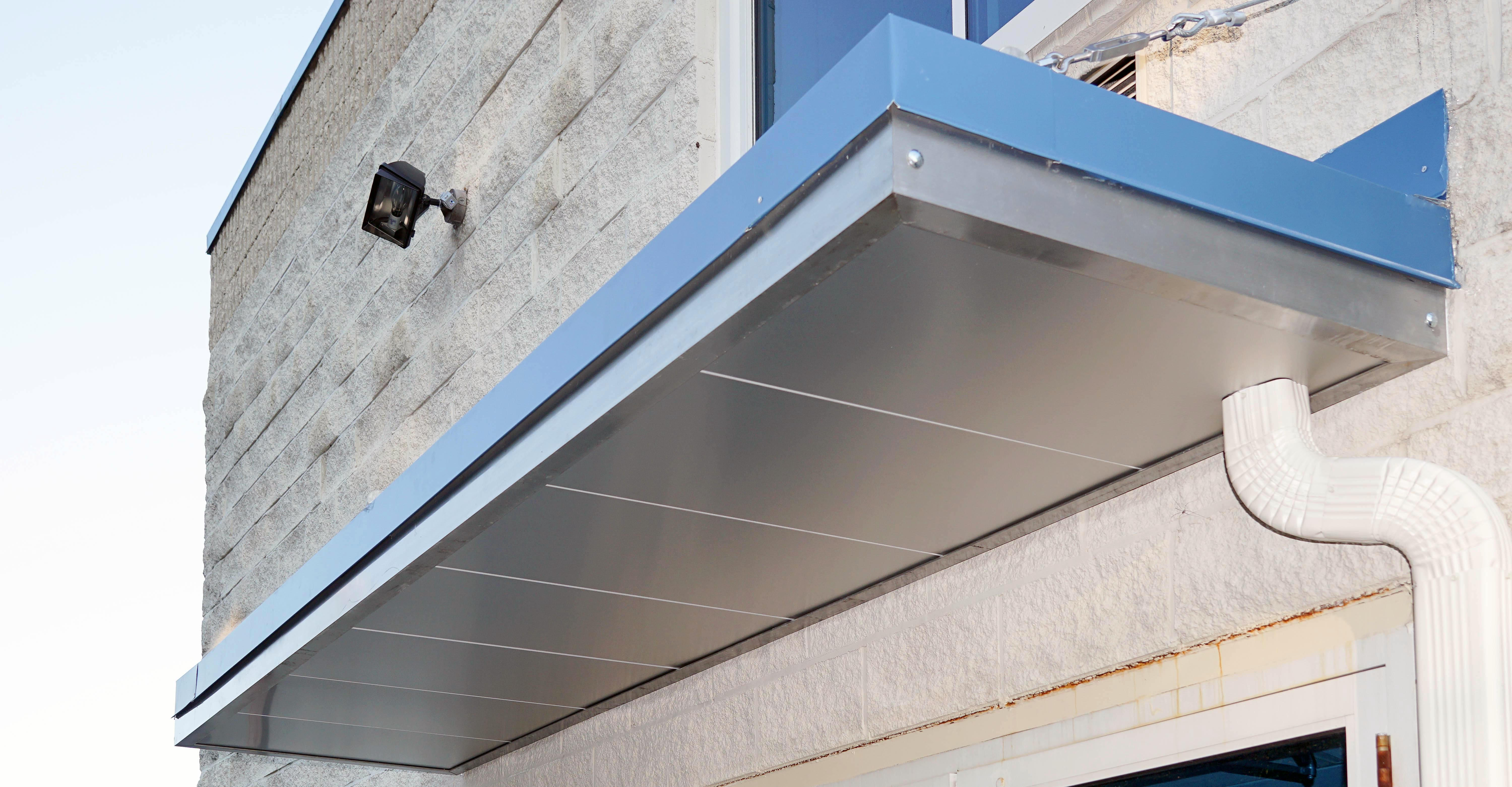 Suspended Metal Canopy with Soffit & Suspended Metal Canopy with Soffit - Bensalem Metal