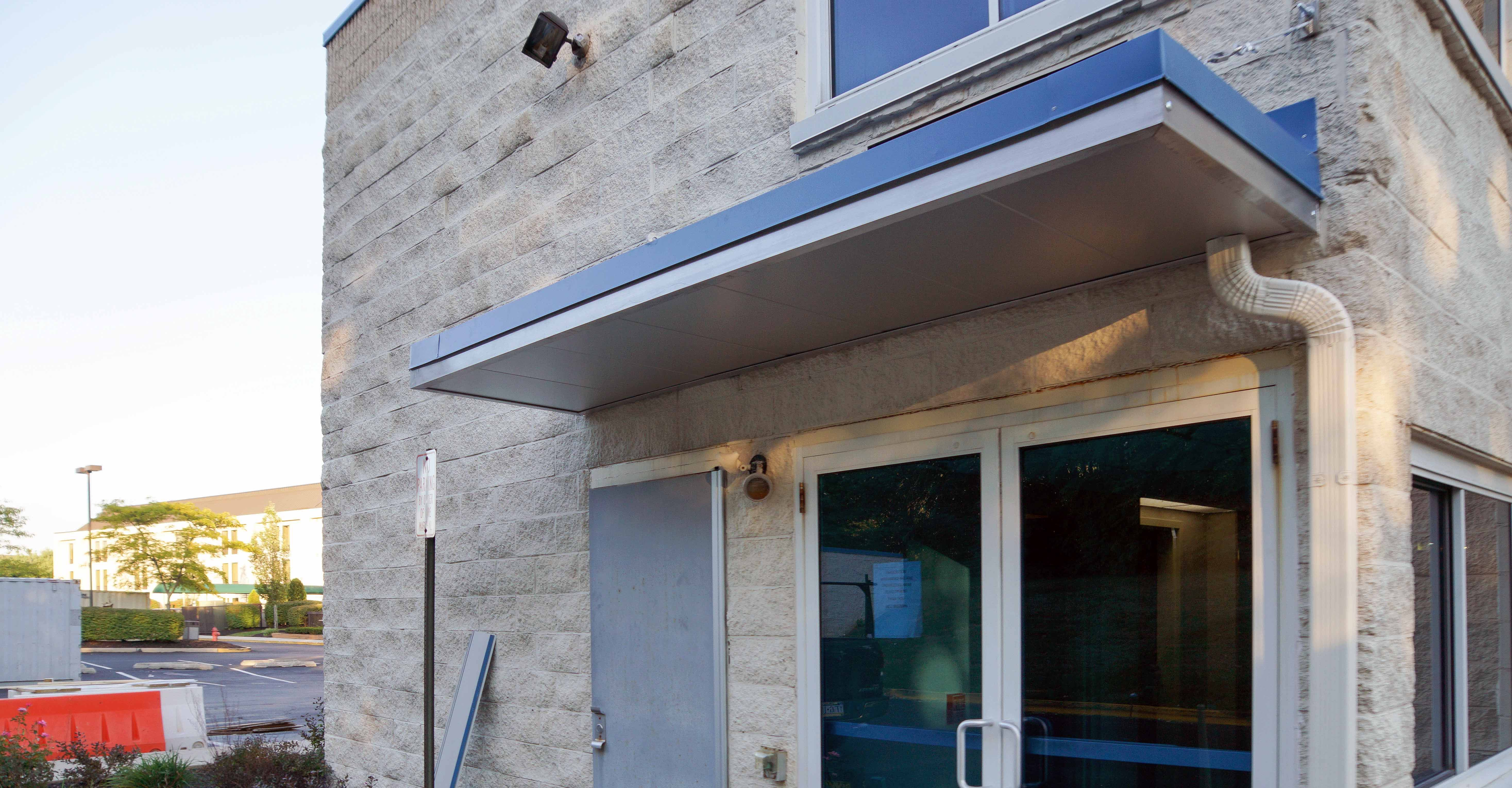 Suspended Metal Canopy